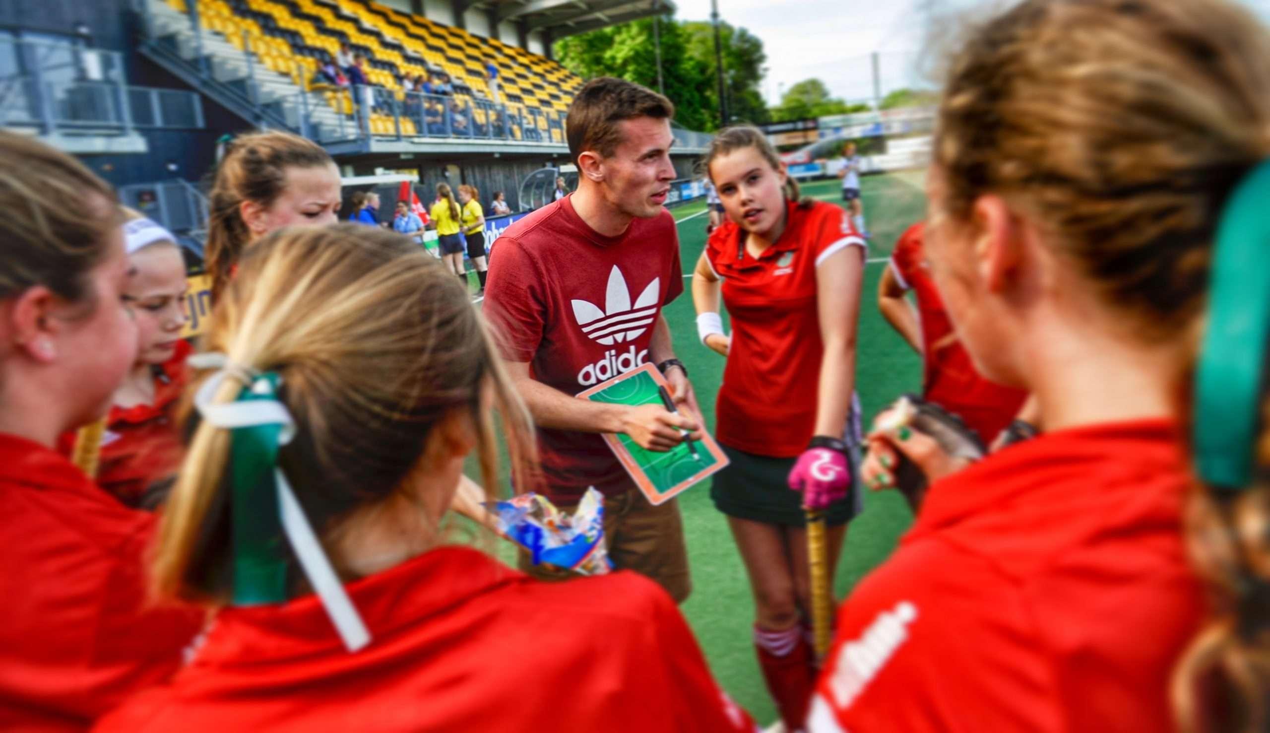 Jack Rolfe coaching at the u14 Junior Tournament.