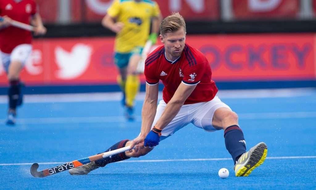 FIH Pro League,  Lee Valley H&TC, London, 9th June 2019. Great Britain vs Australia. Great Britainís Oli Willars announces he retirement from international hockey