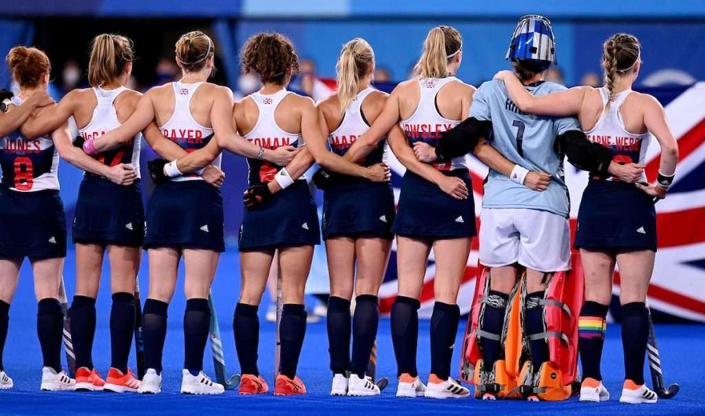 TOKYO - Tokyo 2020 Olympic Games South Africa v Great-Britain (Pool A) Photo: GB lineup. COPYRIGHT WORLDSPORTPICS FRANK UIJLENBROEK