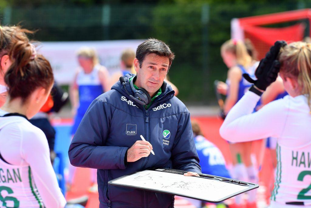 Irish head coach Sean Dancer Pic Adrian Boehm